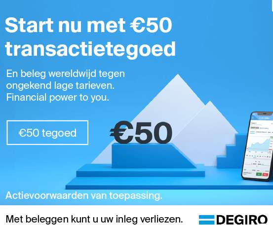 50 euro tranactietegoed DEGIRO
